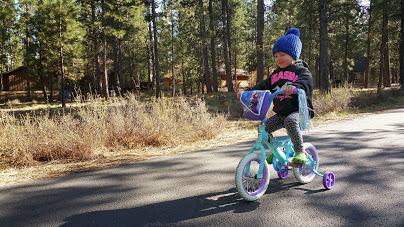 20150414 Emma riding bike in Sunriver