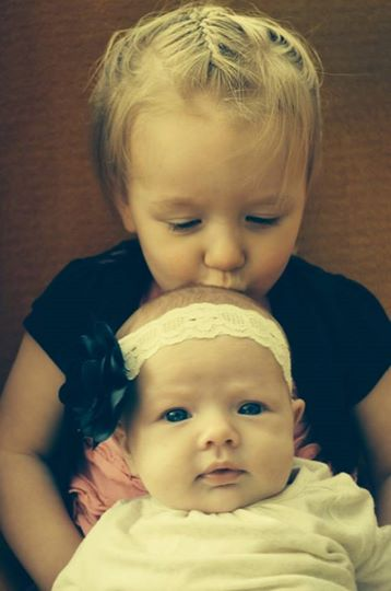 Emma and Lily, May 2014