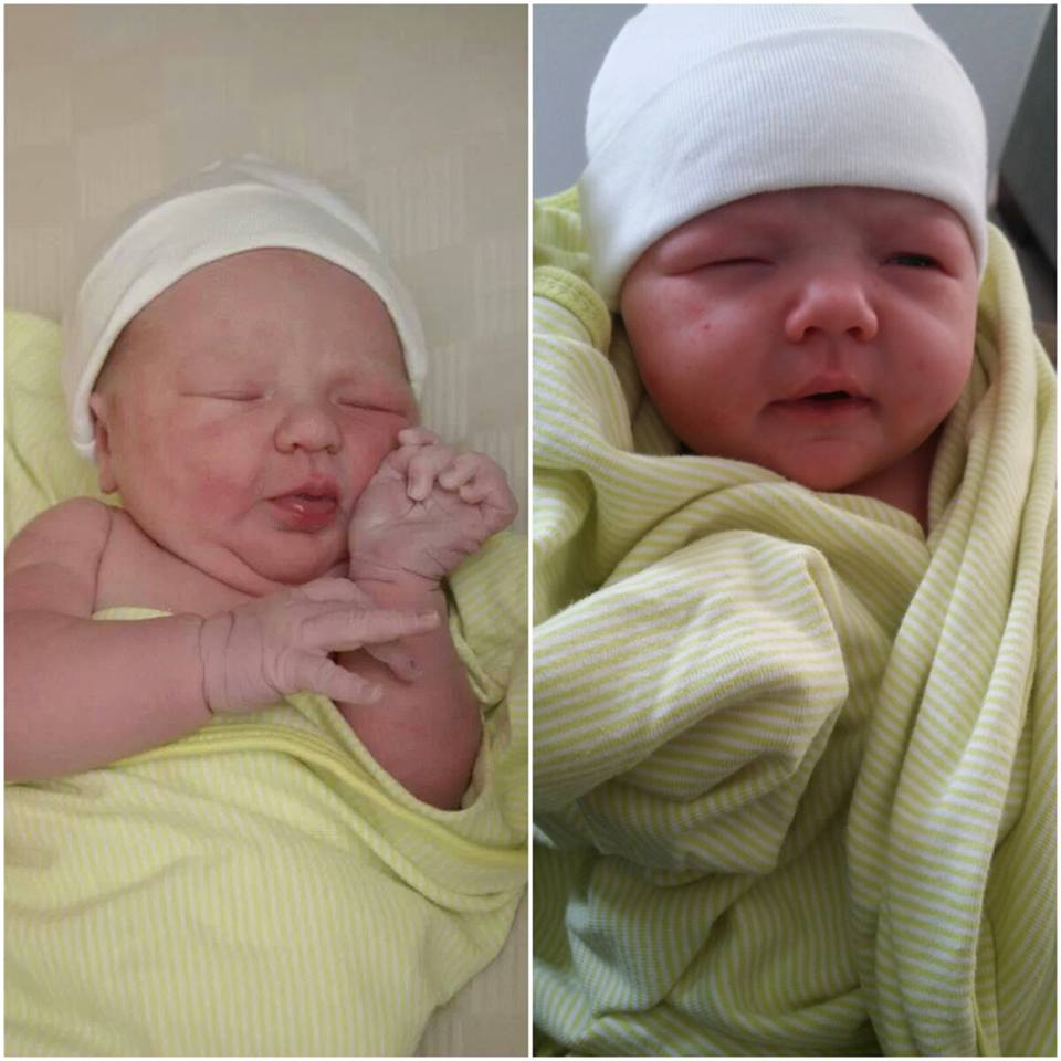 Left: Emma Grace born March 17th, 2012 at 3:58am. Right: Lily Joy born March 20th, 2014 at 3:56am!
