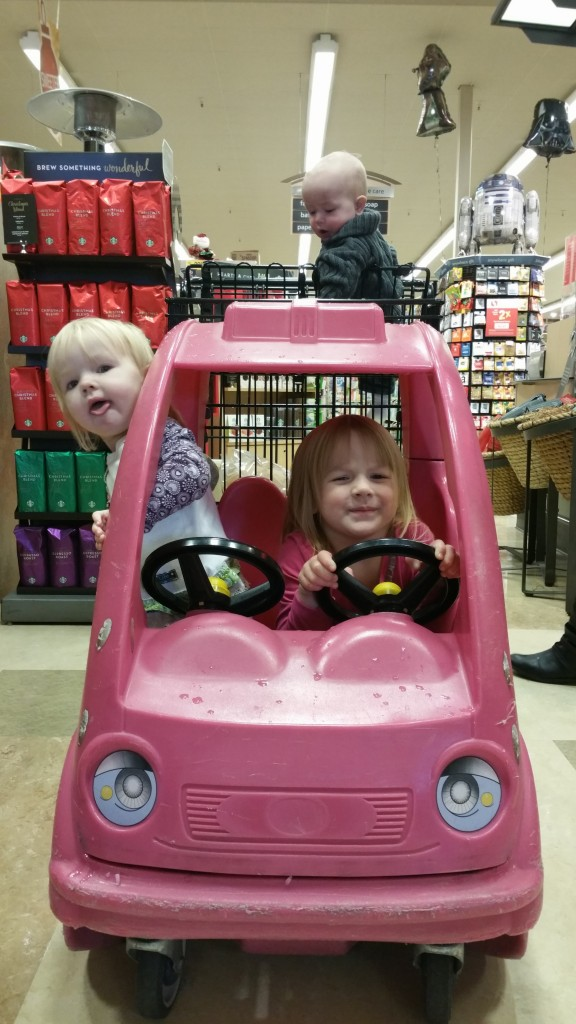 The kids found their own RV their size at Safeway!