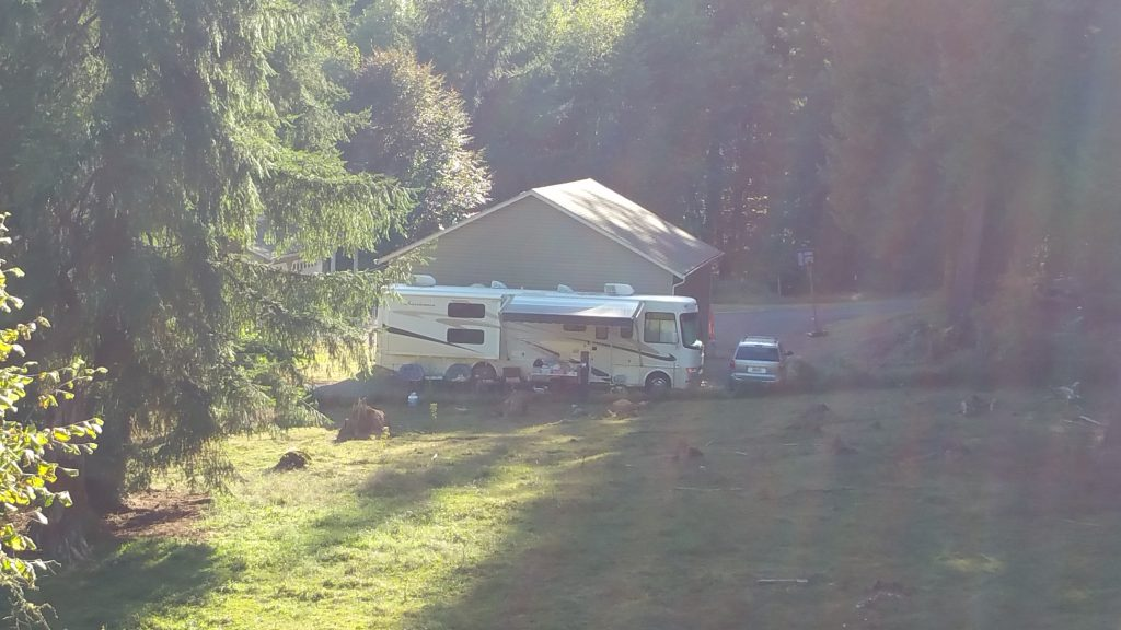 Pic of our campsite from the hill I climbed.