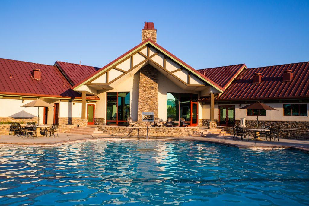 Pool area at Durango RV Resort