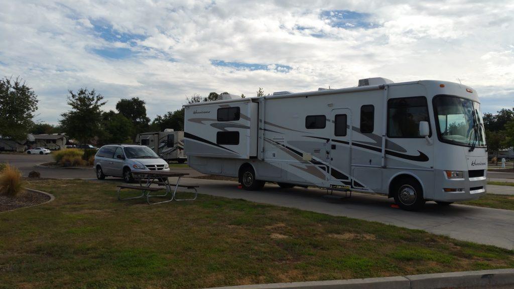 Our campsite at Durango RV Resort