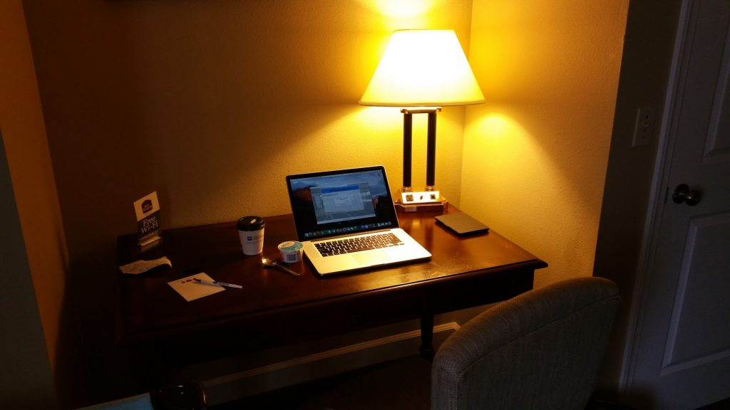 My Office at the Best Western in Yreka