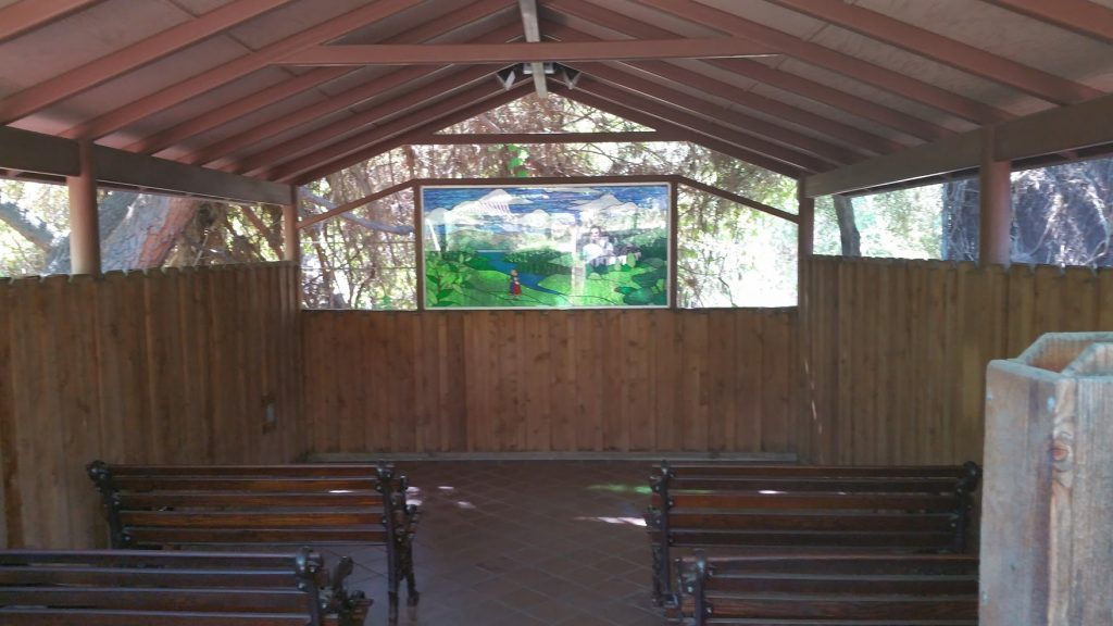 Inside the chapel.