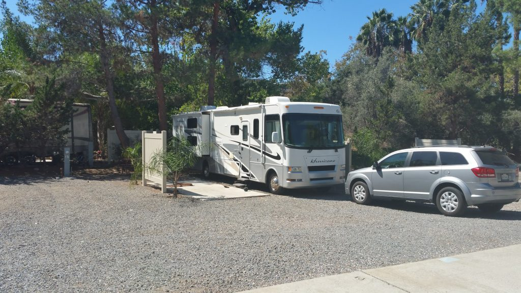 Our spot at Rancho Los Coches RV Park