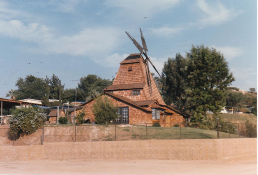 The Windmill House that was in the middle of the RV Park.
