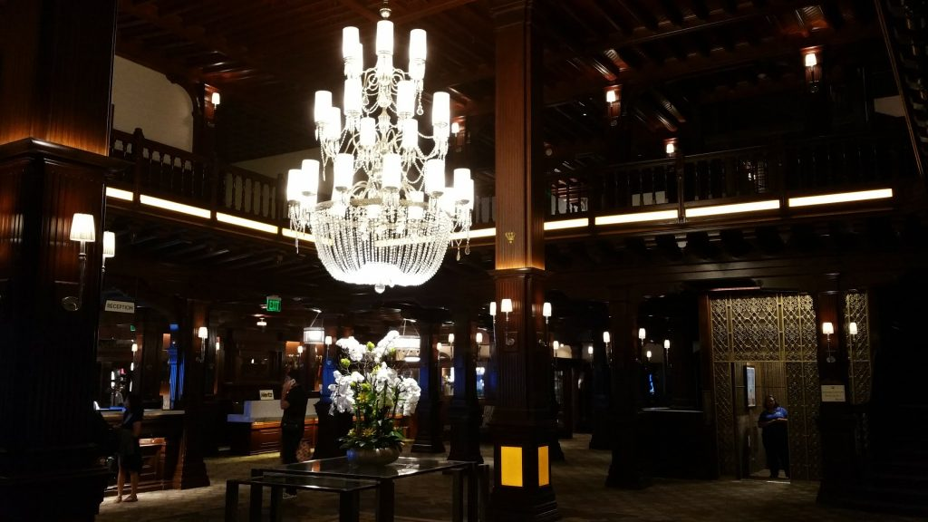 Chandelier in front lobby.